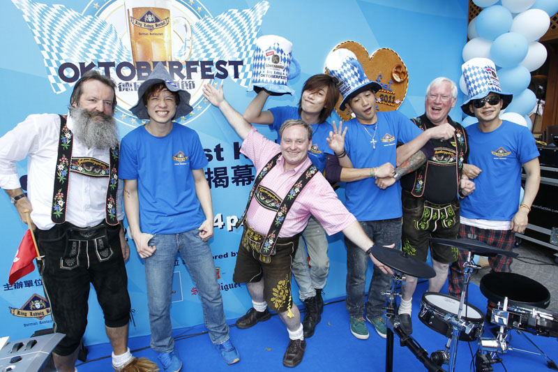 King Ludwig Beerhall Oktoberfest Opening mit KOLOR Independence in Hong Kong